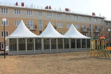 Презентация проекта строительства микрорайона - шатры А-Тент