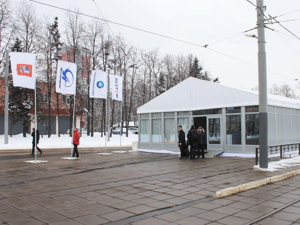 Презентация скоростного трамвая – депо им. Н. Э. Баумана