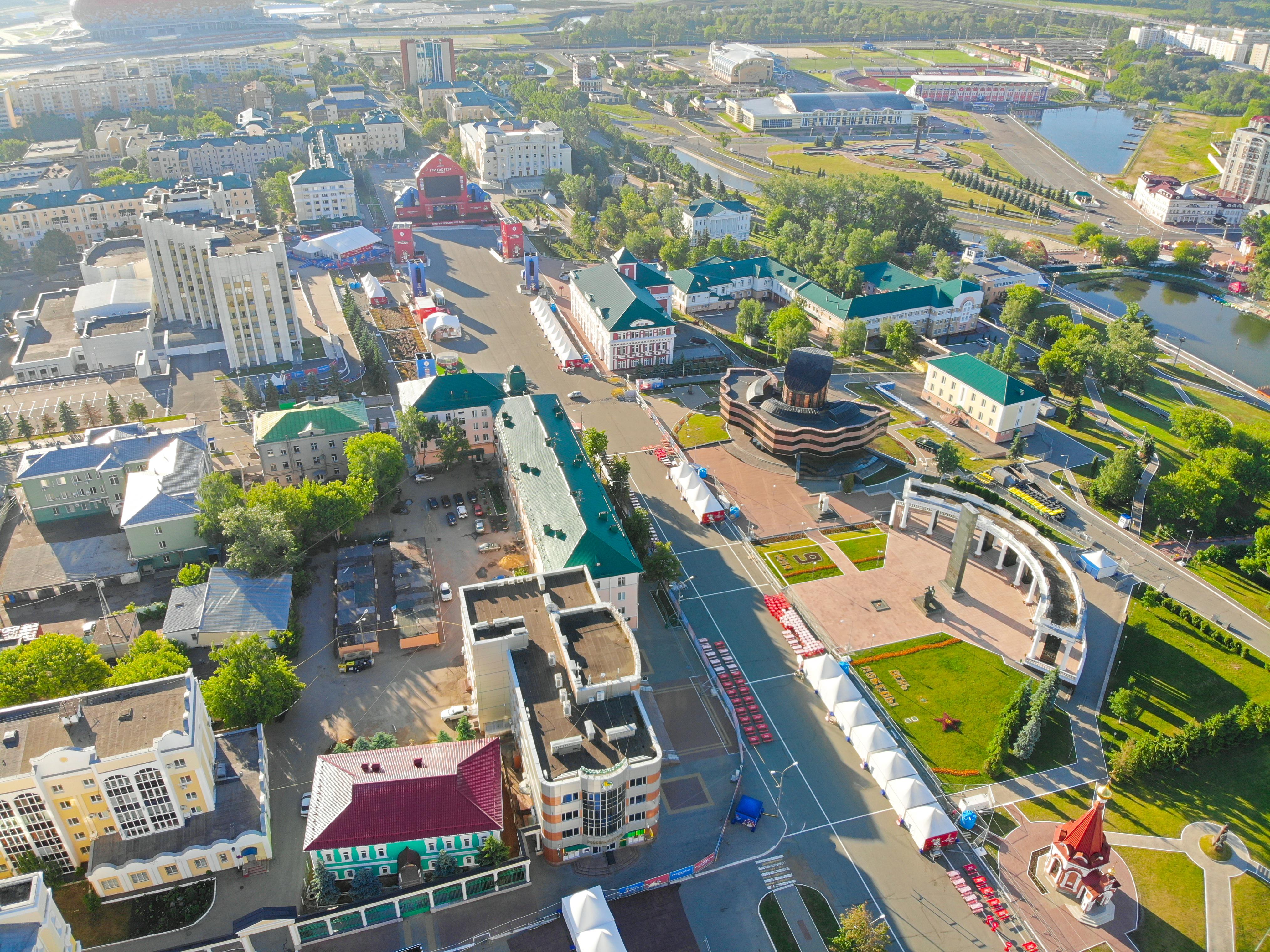 Временная инфраструктура для Фан-Зоны Чемпионата мира по футболу 2018 г. Саранск
