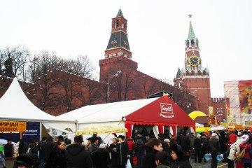 Масленица 2009 в Москве - шатры А-Тент