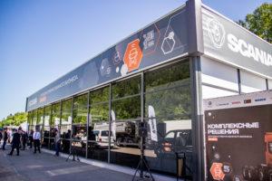 Презентация и тест-драйв новых моделей грузовых автомобилей Scania.