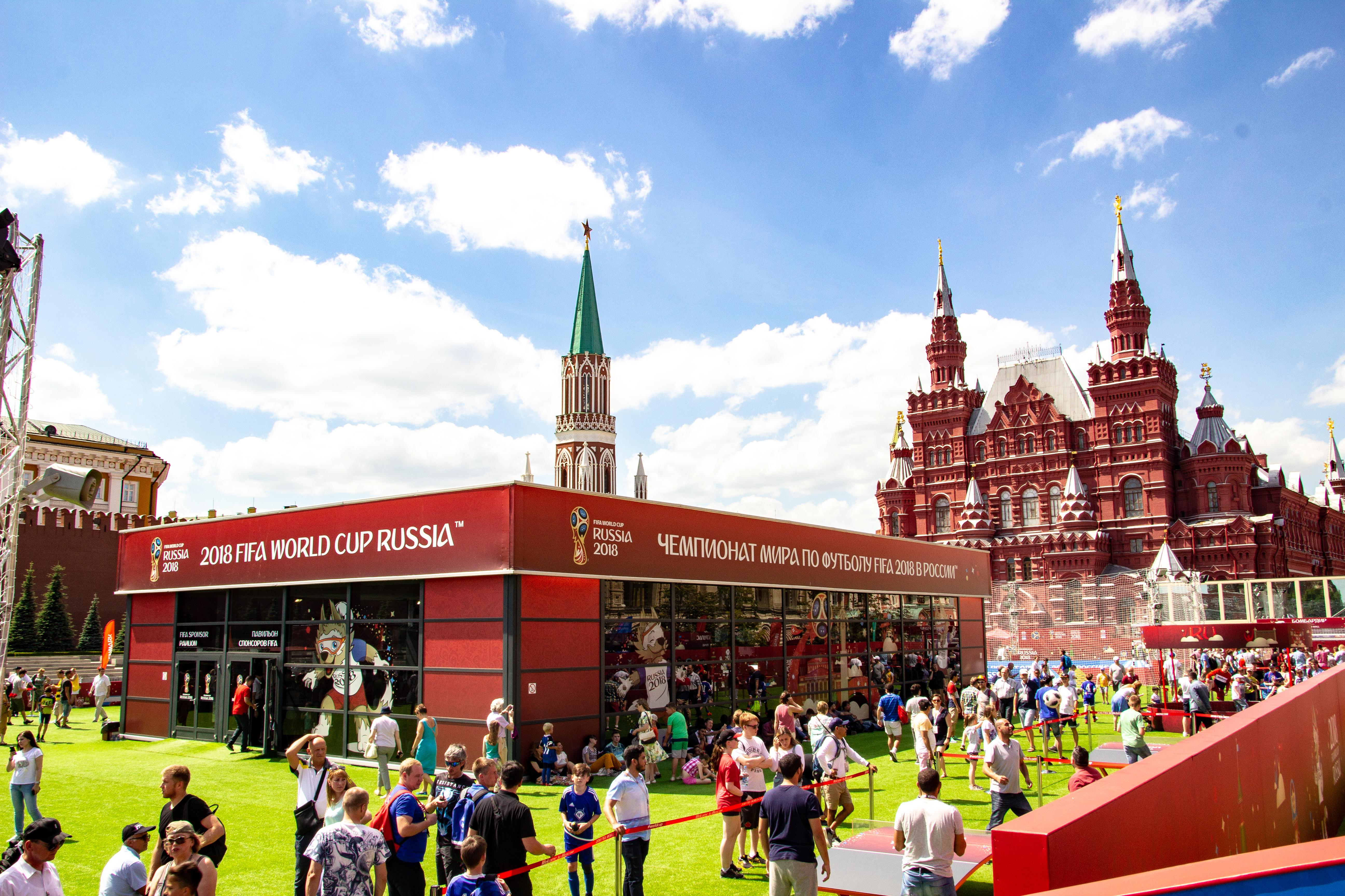 Временная инфраструктура для Парка футбола в рамках Чемпионата Мира по футболу 2018. Красная площадь.