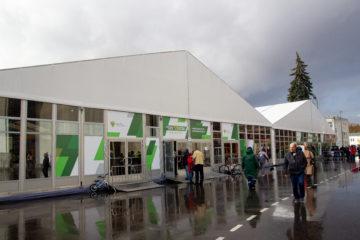 Временная инфраструктура для выставки