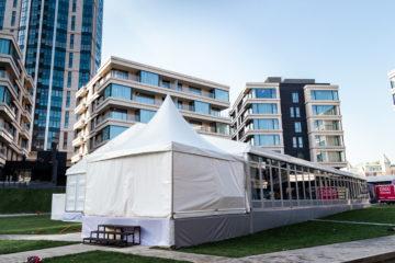 Корпоративное мероприятие в Москве - шатры А-Тент