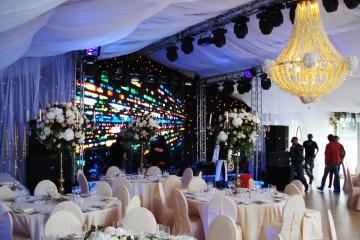 Свадьба на Пушкинской набережной - шатры А-Тент