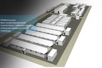 Временные каркасно-тентовые конструкции для оперативного развертывания мобильных госпиталей в период эпидемии. - шатры А-Тент