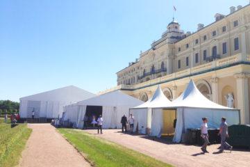 Корпоративное мероприятие в Санкт-Петербурге - шатры А-Тент