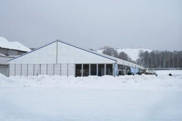 Семейный фестиваль шин и автомобилей «Русская зима» - шатры А-Тент