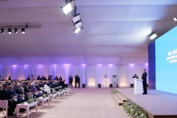 Баку, торжественная церемония запуска магистрали - шатры А-Тент