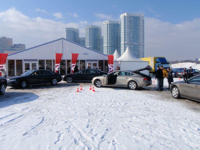 Тест-драйв автомобилей Audi на Ходынском поле